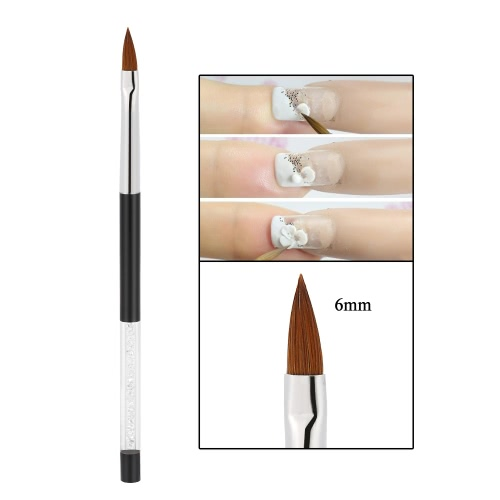 1pc Nail Art Painting Brush 9mm Crystal Acrylic Nail Art UV Gel Painting Line Brush Nylon Hair Pen Manicure Nail Liner ToolHealth &amp; Beauty<br>1pc Nail Art Painting Brush 9mm Crystal Acrylic Nail Art UV Gel Painting Line Brush Nylon Hair Pen Manicure Nail Liner Tool<br>