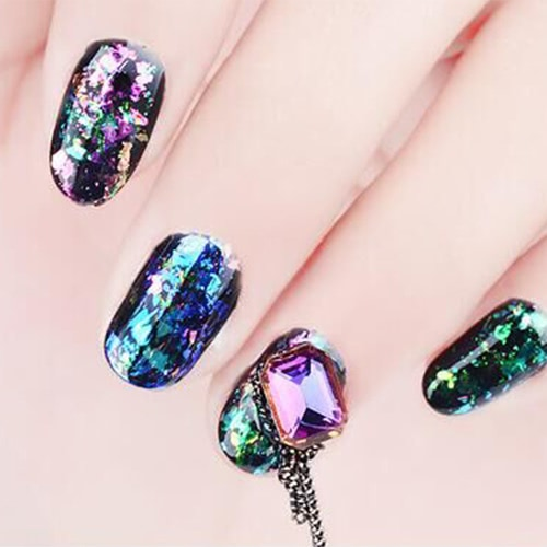 Nail Glitter Paillette Manicure Brocade Powder Transparent Mirror Stars Glitter Gold Sequins Powder Nail Art DecorationHealth &amp; Beauty<br>Nail Glitter Paillette Manicure Brocade Powder Transparent Mirror Stars Glitter Gold Sequins Powder Nail Art Decoration<br>