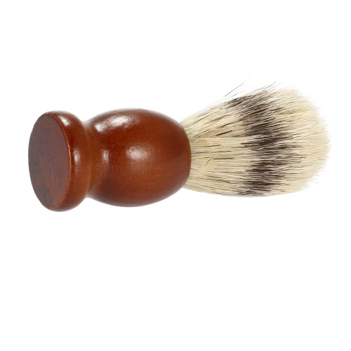 Bristle Shaving Brush with Wood Handle Mens Shave Brush for Razor Male Facial Cleaning Brush for Beard Brown HandleHealth &amp; Beauty<br>Bristle Shaving Brush with Wood Handle Mens Shave Brush for Razor Male Facial Cleaning Brush for Beard Brown Handle<br>