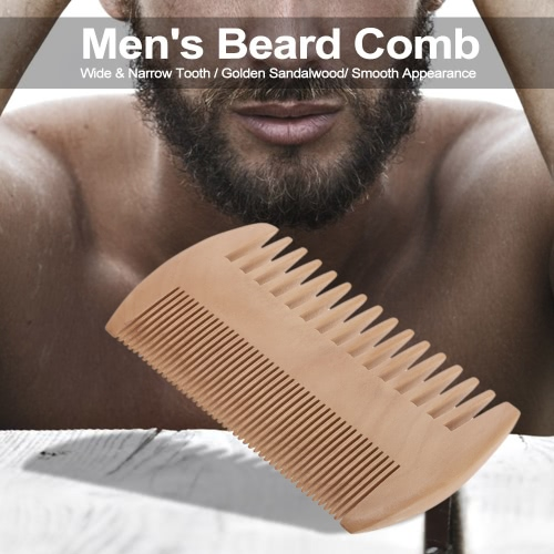 Mens Beard Comb Mustache Wooden Comb Male Facial Hair Beard Wide &amp; Narrow ToothHealth &amp; Beauty<br>Mens Beard Comb Mustache Wooden Comb Male Facial Hair Beard Wide &amp; Narrow Tooth<br>