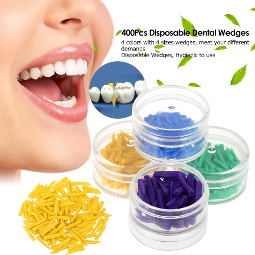 400Pcs Disposable Medical Dental Materials Wedges Plastic Dental Wedges 4 Color Green Blue Purple Yellow Dentist ToolHealth &amp; Beauty<br>400Pcs Disposable Medical Dental Materials Wedges Plastic Dental Wedges 4 Color Green Blue Purple Yellow Dentist Tool<br>