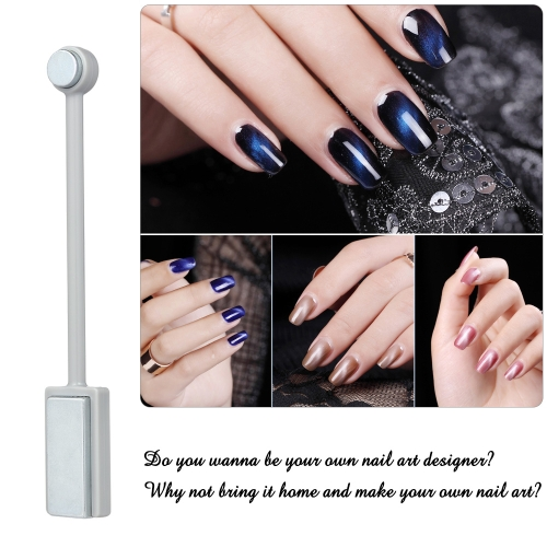 Double-end Nail Art Magnet Cat Eye Gel Polish Varnish Magnetic Stick 3D Line Strip Magnetic Board Nail ToolHealth &amp; Beauty<br>Double-end Nail Art Magnet Cat Eye Gel Polish Varnish Magnetic Stick 3D Line Strip Magnetic Board Nail Tool<br>