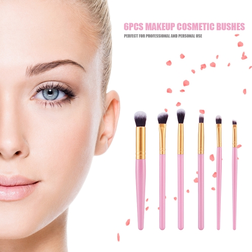 6Pcs Makeup Cosmetic Bush Eyeshadow Eyeliner Blending Sponge Flat Brush Set 9 ColorsHealth &amp; Beauty<br>6Pcs Makeup Cosmetic Bush Eyeshadow Eyeliner Blending Sponge Flat Brush Set 9 Colors<br>