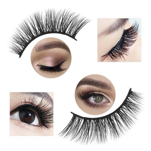 1 Pair 3D False Eyelashes Invisible Band Natural Black Eyelash Full Strip ReusableHealth &amp; Beauty<br>1 Pair 3D False Eyelashes Invisible Band Natural Black Eyelash Full Strip Reusable<br>