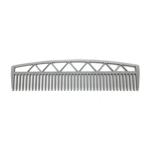 Peine de la barba del pelo del acero inoxidable 1PC Peine de metal profesional del bigote que se viste densamente