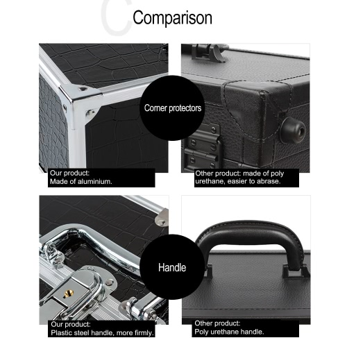 Large Cosmetic Organizer Box Make Up Case for Make Up Tools Lockable Black Containing Storage BoxHealth &amp; Beauty<br>Large Cosmetic Organizer Box Make Up Case for Make Up Tools Lockable Black Containing Storage Box<br>