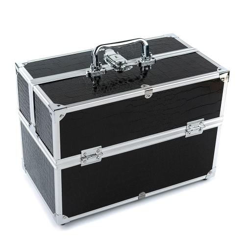 Grande Organizer Box cosmetici trucco caso per Make-Up strumenti con serratura nero contenente scatola di immagazzinaggio