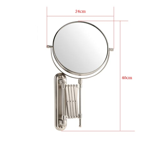 8 Inch 7X Magnification Wall Mounted Bathroom Stretchable Rotatable Folding Round Double Dual Sided Hanging Mirror for Makeup ShavHealth &amp; Beauty<br>8 Inch 7X Magnification Wall Mounted Bathroom Stretchable Rotatable Folding Round Double Dual Sided Hanging Mirror for Makeup Shav<br>
