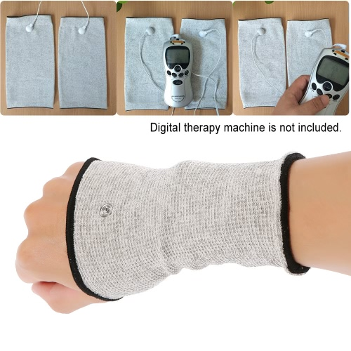 Conductive Wrist Electrode Massage Wristband for Tens Machine 1 Pair Electrotherapy Wristguard for Pain Relief MassagerHealth &amp; Beauty<br>Conductive Wrist Electrode Massage Wristband for Tens Machine 1 Pair Electrotherapy Wristguard for Pain Relief Massager<br>