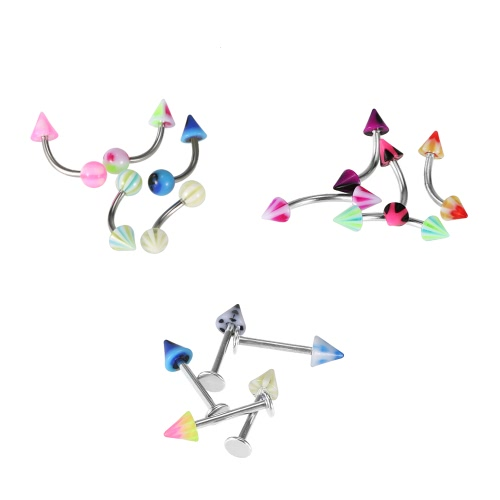 105Pcs Body Piercing Jewelry Kit Stainless Steel Navel Tragus Lip Nose Eyebrow Nipple Piercing Bar Ring MulticolorHealth &amp; Beauty<br>105Pcs Body Piercing Jewelry Kit Stainless Steel Navel Tragus Lip Nose Eyebrow Nipple Piercing Bar Ring Multicolor<br>