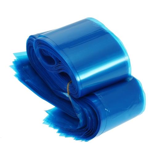 100pcs clip Cord Mangas sacos descartáveis Sacos para tatuagem máquina de plástico azul