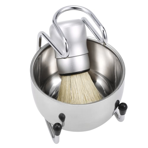 3 in 1 Mens Shaving Set Shaving Brush + Shaving Stand + Soap Bowl for Badger Hair Cleaning Male Shaving KitHealth &amp; Beauty<br>3 in 1 Mens Shaving Set Shaving Brush + Shaving Stand + Soap Bowl for Badger Hair Cleaning Male Shaving Kit<br>