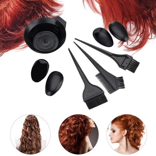 5Pcs Salon Hair Coloring Dyeing Hair Kit DIY Hair Coloring Tool Set Bowl &amp; Brushes &amp; Two-edged Comb &amp; Ear CoversHealth &amp; Beauty<br>5Pcs Salon Hair Coloring Dyeing Hair Kit DIY Hair Coloring Tool Set Bowl &amp; Brushes &amp; Two-edged Comb &amp; Ear Covers<br>