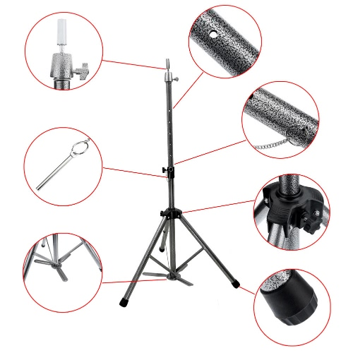 Mannequin Hair Tripod Adjustable Clamp Hairdressing Wig Training Head Holder StandHealth &amp; Beauty<br>Mannequin Hair Tripod Adjustable Clamp Hairdressing Wig Training Head Holder Stand<br>