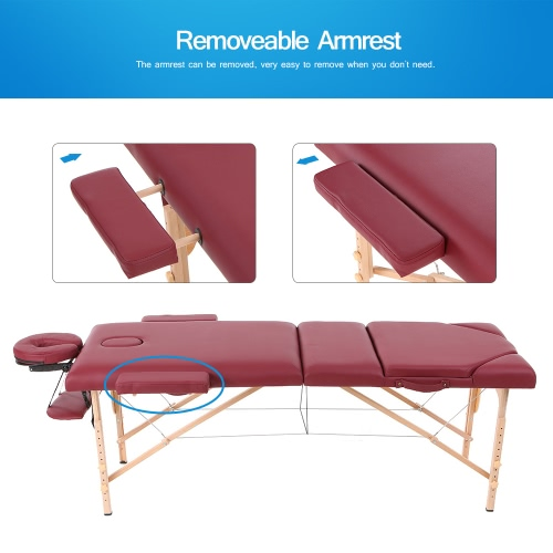 Abody 84L Portable Massage Table 3 Fold Facial SPA Bed Adjustable Therapy Massage Bed Tattoo Beauty Salon DeviceHealth &amp; Beauty<br>Abody 84L Portable Massage Table 3 Fold Facial SPA Bed Adjustable Therapy Massage Bed Tattoo Beauty Salon Device<br>