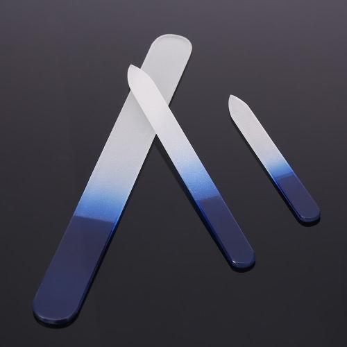 3pcs Glass Nail File Nail Art Care Tool Crystal Nail Sanding Buffing Tool 3 Sizes Manicure Nail Polishing Nail Art Tool