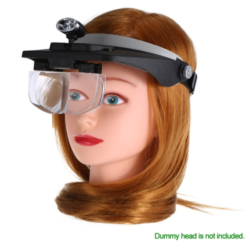 Magnifier Glasses LED Headband Light Professional Head Loupe for Eyelash Extension Repair Magnifying Eyeglass 1.2X 1.8X 2.5X 3.5XHealth &amp; Beauty<br>Magnifier Glasses LED Headband Light Professional Head Loupe for Eyelash Extension Repair Magnifying Eyeglass 1.2X 1.8X 2.5X 3.5X<br>