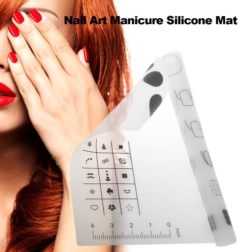 Nail Art Manicure Silicone Mat Foldable Washable Soft Table Cover Pad For Stamping Reverse Stamp Transfer Water Marble Nail PractiHealth &amp; Beauty<br>Nail Art Manicure Silicone Mat Foldable Washable Soft Table Cover Pad For Stamping Reverse Stamp Transfer Water Marble Nail Practi<br>