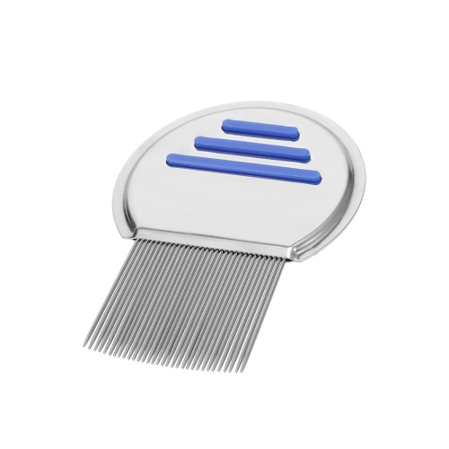 Stainless Steel Lice Comb Nit Free Terminator Pet Dog Cat Louse Flea Remove Round Non-slip HandleHealth &amp; Beauty<br>Stainless Steel Lice Comb Nit Free Terminator Pet Dog Cat Louse Flea Remove Round Non-slip Handle<br>