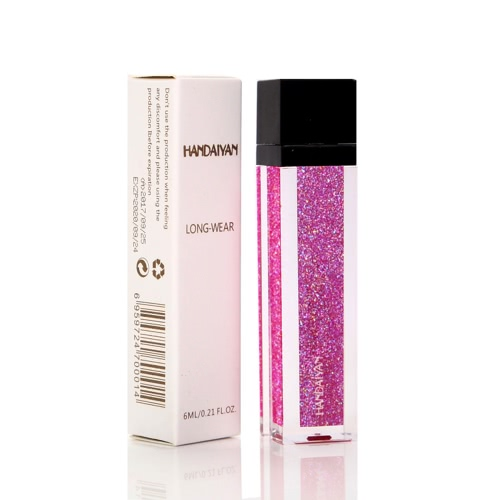 Handaiyan Waterproof Metallic Nacreous Without Attenuation Long Lasting Liquid Face Lipstick Metal Lip Meta LipstickHealth &amp; Beauty<br>Handaiyan Waterproof Metallic Nacreous Without Attenuation Long Lasting Liquid Face Lipstick Metal Lip Meta Lipstick<br>