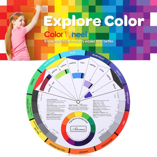 Tattoo Pigment Color Wheel Chart Color Mix Guide Supplies for Permanent Eyebrow Eyeliner Lip TattooingHealth &amp; Beauty<br>Tattoo Pigment Color Wheel Chart Color Mix Guide Supplies for Permanent Eyebrow Eyeliner Lip Tattooing<br>