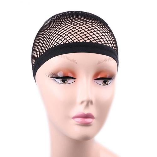 Fil noir de tissage de filet noir perruque élastique extensible maille chapeau de perruque de filet de maille