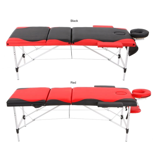 Abody 3 Fold Portable Massage Table 84L Facial SPA Bed Therapy Massage Bed Mixed Color Tattoo Beauty Salon Device BlackHealth &amp; Beauty<br>Abody 3 Fold Portable Massage Table 84L Facial SPA Bed Therapy Massage Bed Mixed Color Tattoo Beauty Salon Device Black<br>