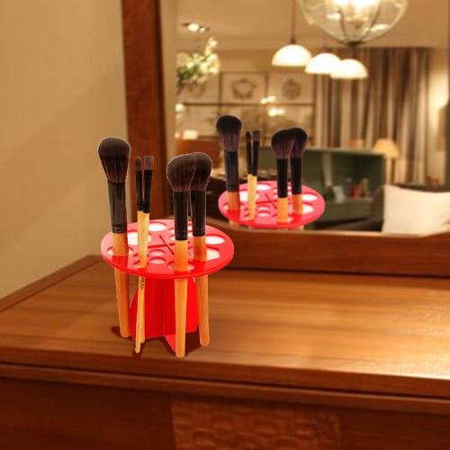 Brush Air Drying Makeup Brush Holder 14 Hole Brush Drying Rack Cosmetic Drying Stand Brush Organizer Round Brush Shelf Red Brush SHealth &amp; Beauty<br>Brush Air Drying Makeup Brush Holder 14 Hole Brush Drying Rack Cosmetic Drying Stand Brush Organizer Round Brush Shelf Red Brush S<br>