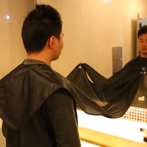 Beard Shaving Apron Gather Cloth Bib Facial Hair Dye Trimmings Catcher Cape with Two Suction CupsHealth &amp; Beauty<br>Beard Shaving Apron Gather Cloth Bib Facial Hair Dye Trimmings Catcher Cape with Two Suction Cups<br>