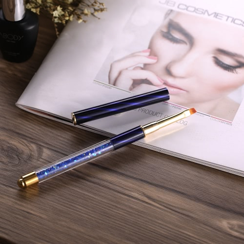1pc Nail Art Painting Pen UV Gel Brush Crystal Acrylic Nail Drawing Liner Nail DIY Flat Brush Nail Salon Pen WhiteHealth &amp; Beauty<br>1pc Nail Art Painting Pen UV Gel Brush Crystal Acrylic Nail Drawing Liner Nail DIY Flat Brush Nail Salon Pen White<br>