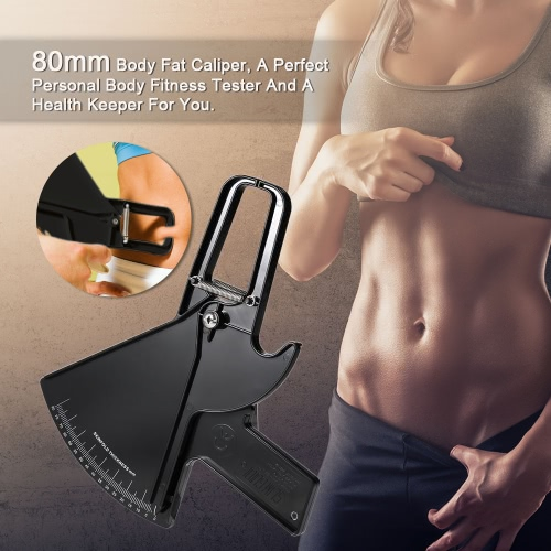 80mm Body Fat Caliper Skinfold Measurement Tool Personal Body Fitness Tester Beauty Health KeeperHealth &amp; Beauty<br>80mm Body Fat Caliper Skinfold Measurement Tool Personal Body Fitness Tester Beauty Health Keeper<br>