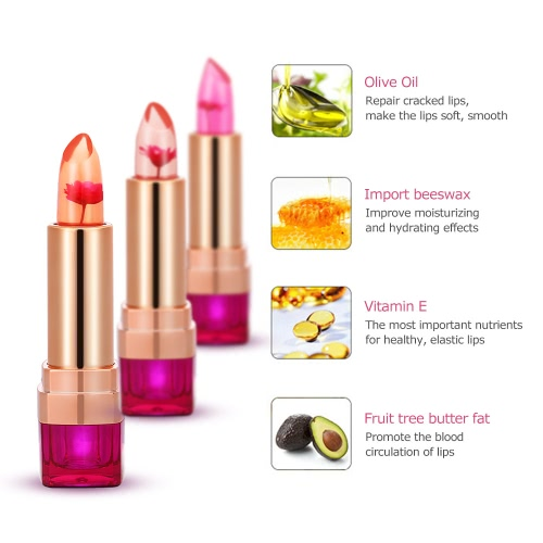 HengFang Black Chrysanthemum Lipsticks Temperature-changed Lip Balm Moisturizer Lips Transparent Jelly Lipsticks OrangeHealth &amp; Beauty<br>HengFang Black Chrysanthemum Lipsticks Temperature-changed Lip Balm Moisturizer Lips Transparent Jelly Lipsticks Orange<br>