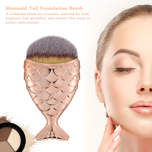 1pc Professional Mermaid Foundation Blusher Face Powder Cosmetic Makeup Brush Beauty Tool Mermaid TailHealth &amp; Beauty<br>1pc Professional Mermaid Foundation Blusher Face Powder Cosmetic Makeup Brush Beauty Tool Mermaid Tail<br>