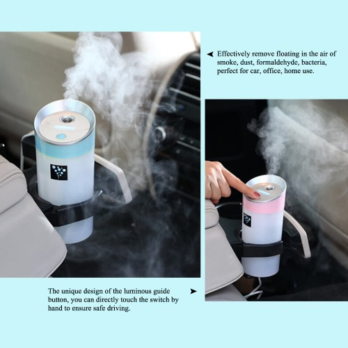 USB Anion Air Humidifier Aromatherapy Aroma Diffuser 300ml Capacity Cup 2 Mist Modes for Essential Oil for Office Car Home Use BluHealth &amp; Beauty<br>USB Anion Air Humidifier Aromatherapy Aroma Diffuser 300ml Capacity Cup 2 Mist Modes for Essential Oil for Office Car Home Use Blu<br>