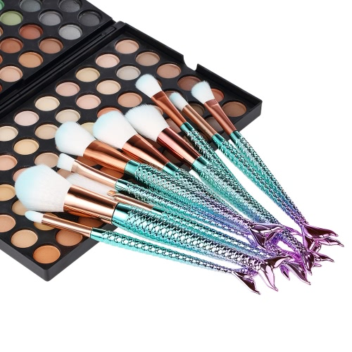 10Pcs Mermaid Cosmetic Brushes Kit Makeup Foundation Eyeshadow Powder Concealer Blush Brush Set Nylon Hair Gradient Color HandleHealth &amp; Beauty<br>10Pcs Mermaid Cosmetic Brushes Kit Makeup Foundation Eyeshadow Powder Concealer Blush Brush Set Nylon Hair Gradient Color Handle<br>