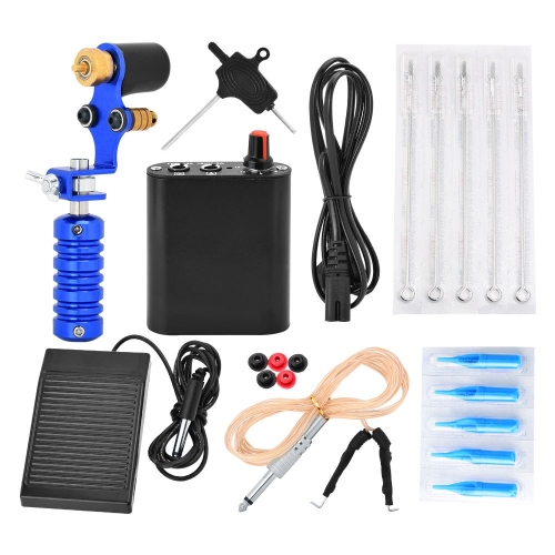 10Pcs Tattoo Machine Kit Set Complete Tattoo Machine Needles Power Supply Foot Pedal Tattoo FootswitchHealth &amp; Beauty<br>10Pcs Tattoo Machine Kit Set Complete Tattoo Machine Needles Power Supply Foot Pedal Tattoo Footswitch<br>