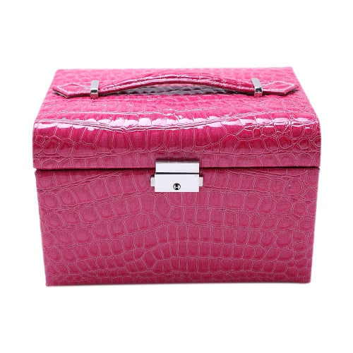 Portable Handheld Fashion High Grade PU Leather Jewelry Box 2 Layers Holder Storage Case Watch Necklace Ring Earring Accessories DHealth &amp; Beauty<br>Portable Handheld Fashion High Grade PU Leather Jewelry Box 2 Layers Holder Storage Case Watch Necklace Ring Earring Accessories D<br>