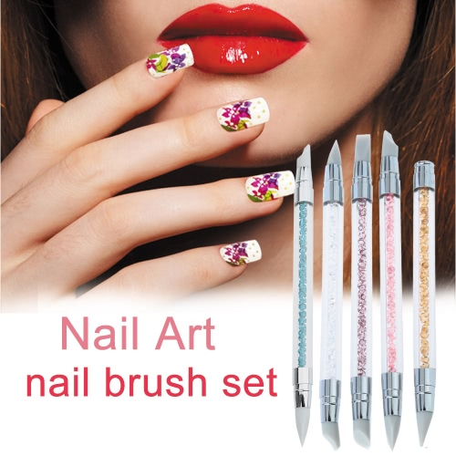3Pcs Acrylic Handle Rhinestone Nail Art Brushes Silicone Head Carving Salon Tool SetHealth &amp; Beauty<br>3Pcs Acrylic Handle Rhinestone Nail Art Brushes Silicone Head Carving Salon Tool Set<br>