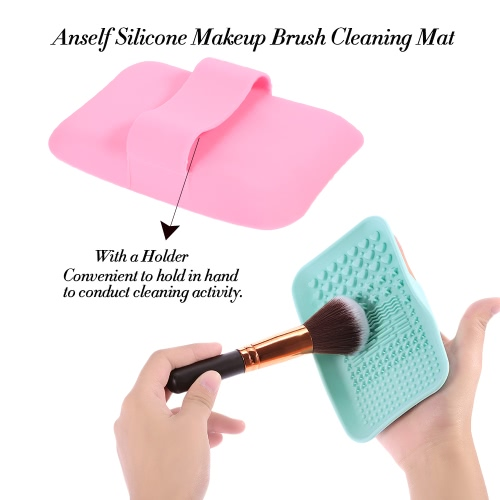 Anself Silicone Cosmetic Brush Cleaner Pad Makeup Brush Cleaning Mat Brush Washing Scrubber Pink Washing ToolHealth &amp; Beauty<br>Anself Silicone Cosmetic Brush Cleaner Pad Makeup Brush Cleaning Mat Brush Washing Scrubber Pink Washing Tool<br>