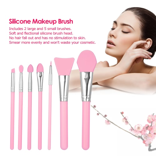 7Pcs Silicone Makeup Brush Kit Facial Mask Brush Foundation Eyeshadow Eyebrow Brush Cosmetic Tool  ???Health &amp; Beauty<br>7Pcs Silicone Makeup Brush Kit Facial Mask Brush Foundation Eyeshadow Eyebrow Brush Cosmetic Tool  ???<br>