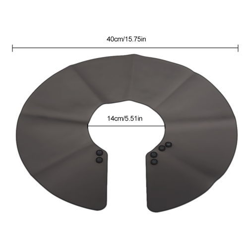 Haircut Neck Cape Wrap Collar Shield Waterproof Silicone Hair Coloring Cuttin Barber HairdressingHealth &amp; Beauty<br>Haircut Neck Cape Wrap Collar Shield Waterproof Silicone Hair Coloring Cuttin Barber Hairdressing<br>