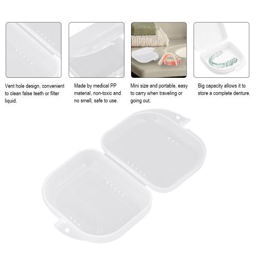 Denture Box Denture Case Dental False Teeth Cleaning Box Denture Bath Container Retainer Denture HolderHealth &amp; Beauty<br>Denture Box Denture Case Dental False Teeth Cleaning Box Denture Bath Container Retainer Denture Holder<br>