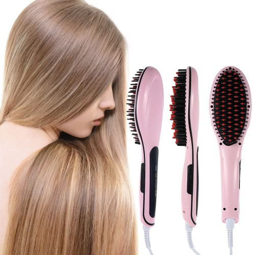 Hot Sale Professional Automatic Straightening Irons Comb With LCD Display Electric Straight Hair Comb Straightener Iron BrushHealth &amp; Beauty<br>Hot Sale Professional Automatic Straightening Irons Comb With LCD Display Electric Straight Hair Comb Straightener Iron Brush<br>
