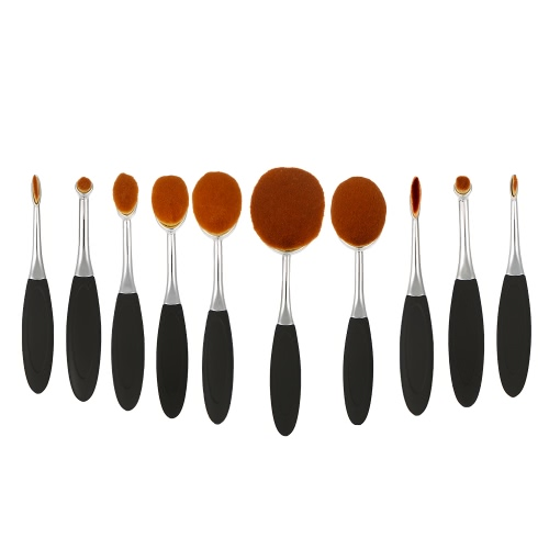 10pcs Anself Cosmetic Brush Set Oval Makeup Brushes Soft Nylon Toothbrush Foundation Makeup Brush Kits Professional Cosmetic PowdeHealth &amp; Beauty<br>10pcs Anself Cosmetic Brush Set Oval Makeup Brushes Soft Nylon Toothbrush Foundation Makeup Brush Kits Professional Cosmetic Powde<br>