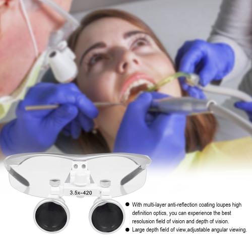 3.5*420mm Dental Binocular Loupes Magnifier US PlugHealth &amp; Beauty<br>3.5*420mm Dental Binocular Loupes Magnifier US Plug<br>