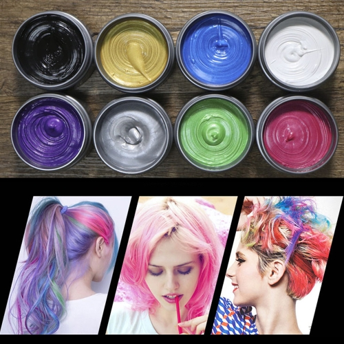 Disposable Pomades One-Time Hairstyle Styling Modeling Coloring Wax Hair Dye Mud for Women MenHealth &amp; Beauty<br>Disposable Pomades One-Time Hairstyle Styling Modeling Coloring Wax Hair Dye Mud for Women Men<br>