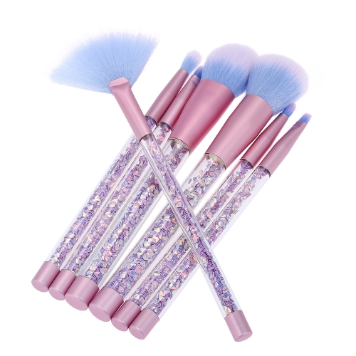 7pcs/set Makeup Brushes Glitter Make Up Brush Bag Mermaid Handle Foundation Power EyebrowHealth &amp; Beauty<br>7pcs/set Makeup Brushes Glitter Make Up Brush Bag Mermaid Handle Foundation Power Eyebrow<br>