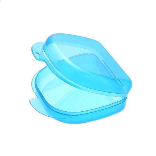 1Pc歯科矯正保持器プラスチックトレイボックス歯コンテナ歯科用ボックス義歯ボックス義歯ボックス青【並行輸入品】