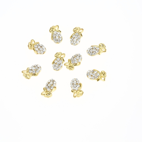 10Pcs Golden Nail Art Tips DIY Decorations Glitter Nail Tools Fashionable and ShiningHealth &amp; Beauty<br>10Pcs Golden Nail Art Tips DIY Decorations Glitter Nail Tools Fashionable and Shining<br>