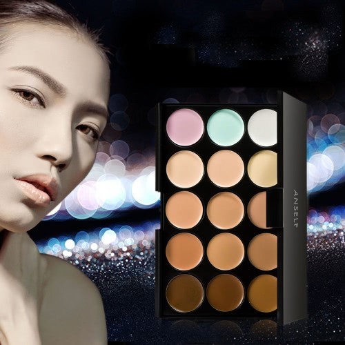 Anself 15 Color Cream Camouflage Concealers Palette Eye Face Cosmetic Makeup Earth ToneHealth &amp; Beauty<br>Anself 15 Color Cream Camouflage Concealers Palette Eye Face Cosmetic Makeup Earth Tone<br>